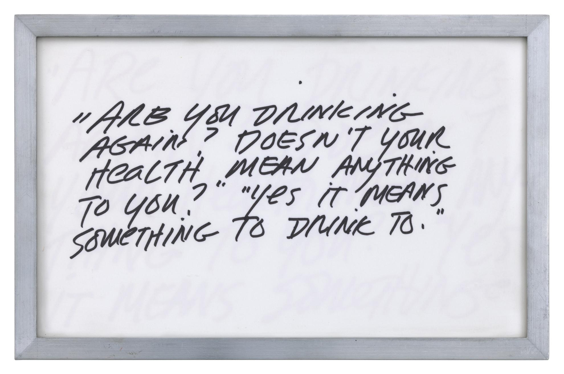 Richard Prince-Untitled (Joke: Are You Drinking Again...)-1987