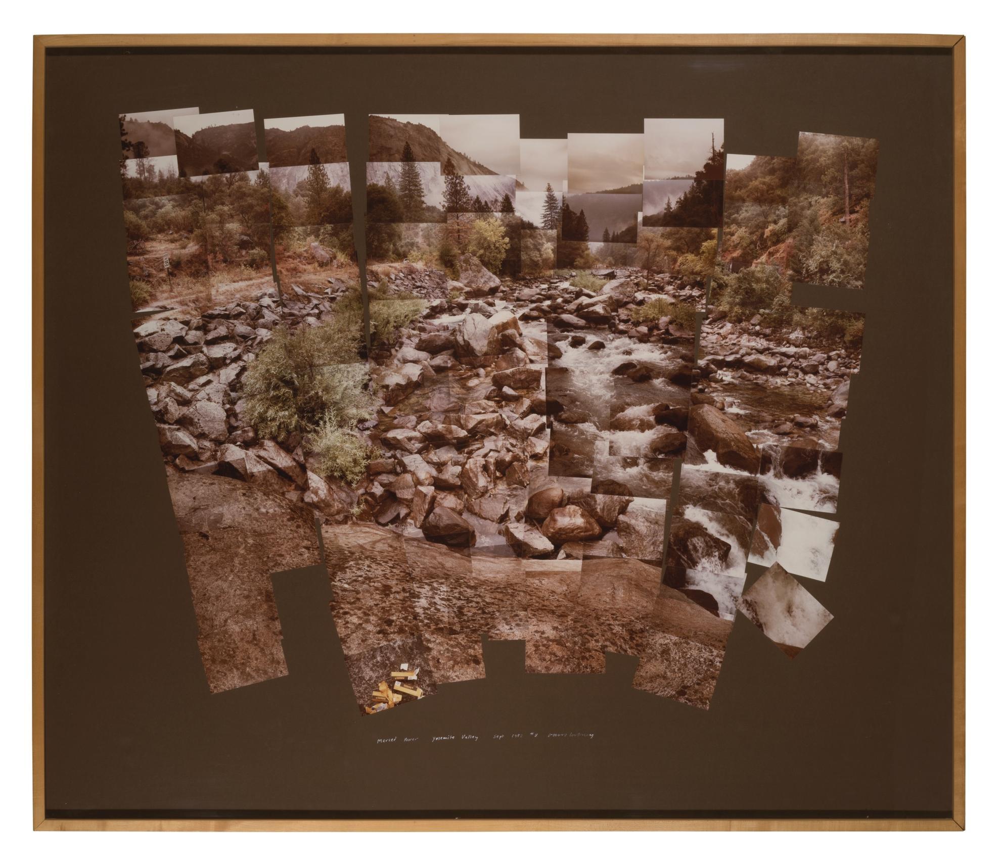 David Hockney-The Merced River, Yosemite Valley-1982