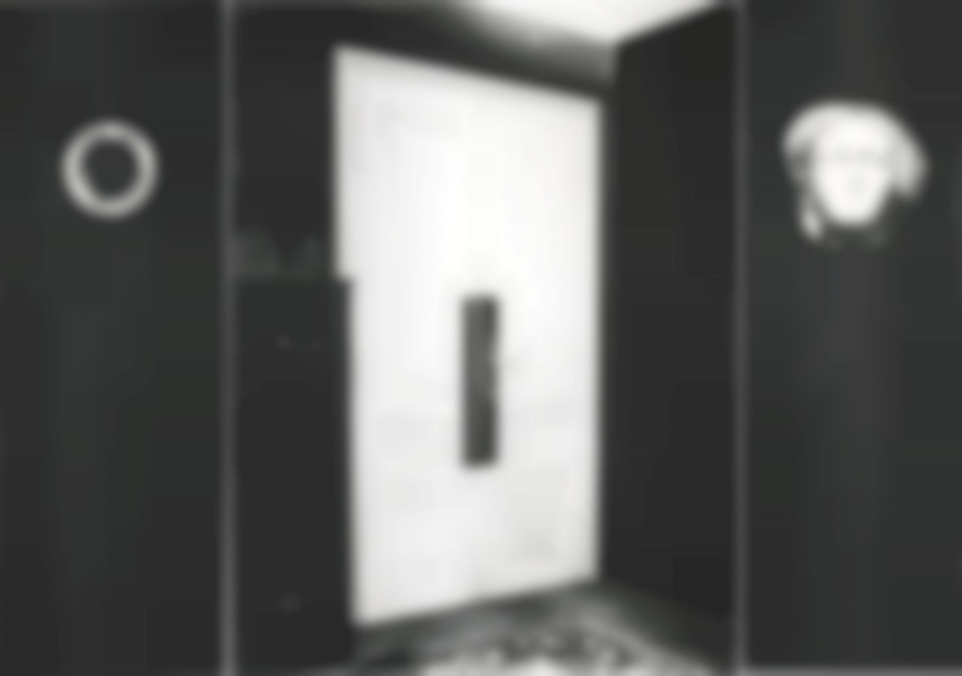 Robert Longo-Untitled (Triptych- Peephole, Consulting Room Door, Head From Shelf 1938)-2000