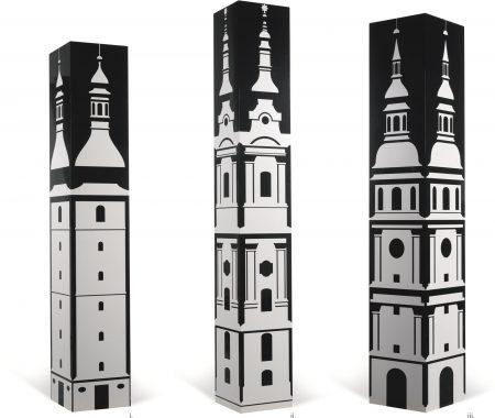 Julian Opie-(i) Baroque Tower 2 (ii) Baroque Tower 3 (iii) Baroque Tower 5 (Three Works)-1997