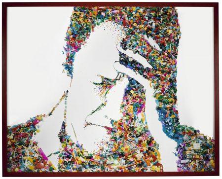 Vik Muniz-Self-Portrait (I Am Too Sad To Tell You, After Bas Jan Ader) (Rebus)-2003