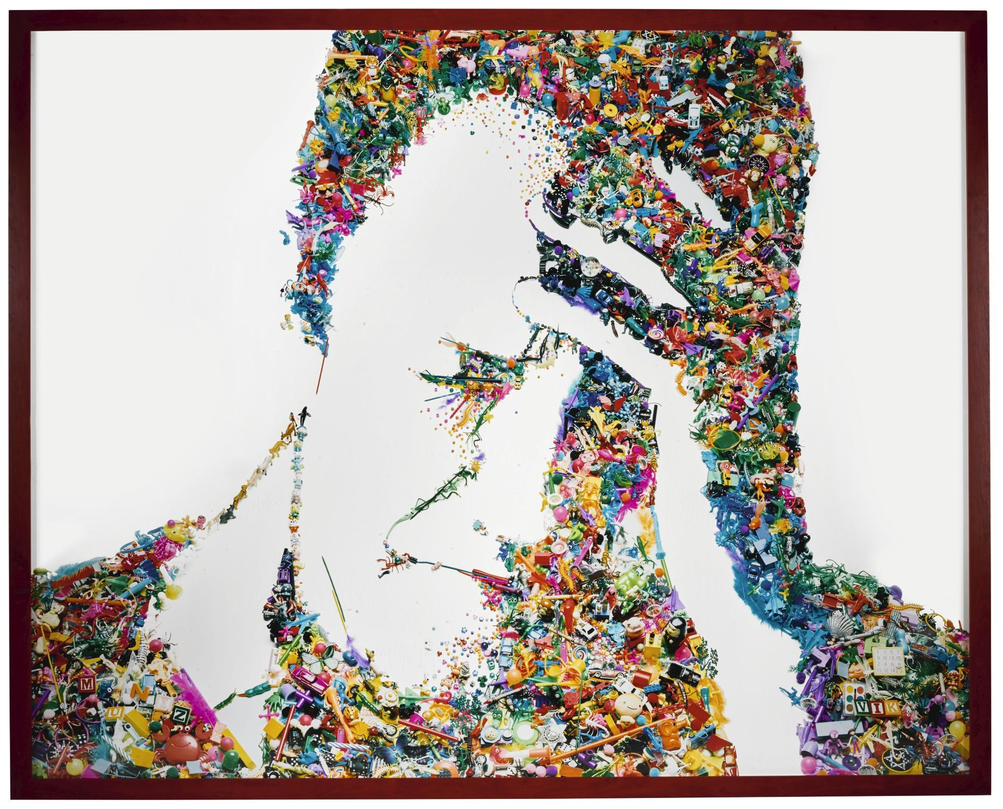Vik Muniz-Self-Portrait (I Am Too Sad To Tell You, After Bas Jan Ader) (Rebus)-2003