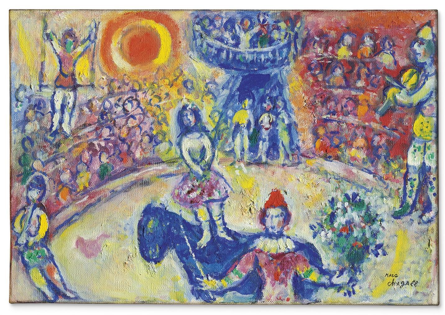 Marc Chagall-Au Cirque-1971