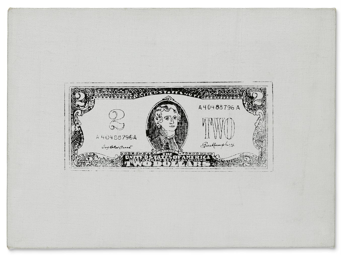 Andy Warhol-Two Dollar Bill (Front)-1962