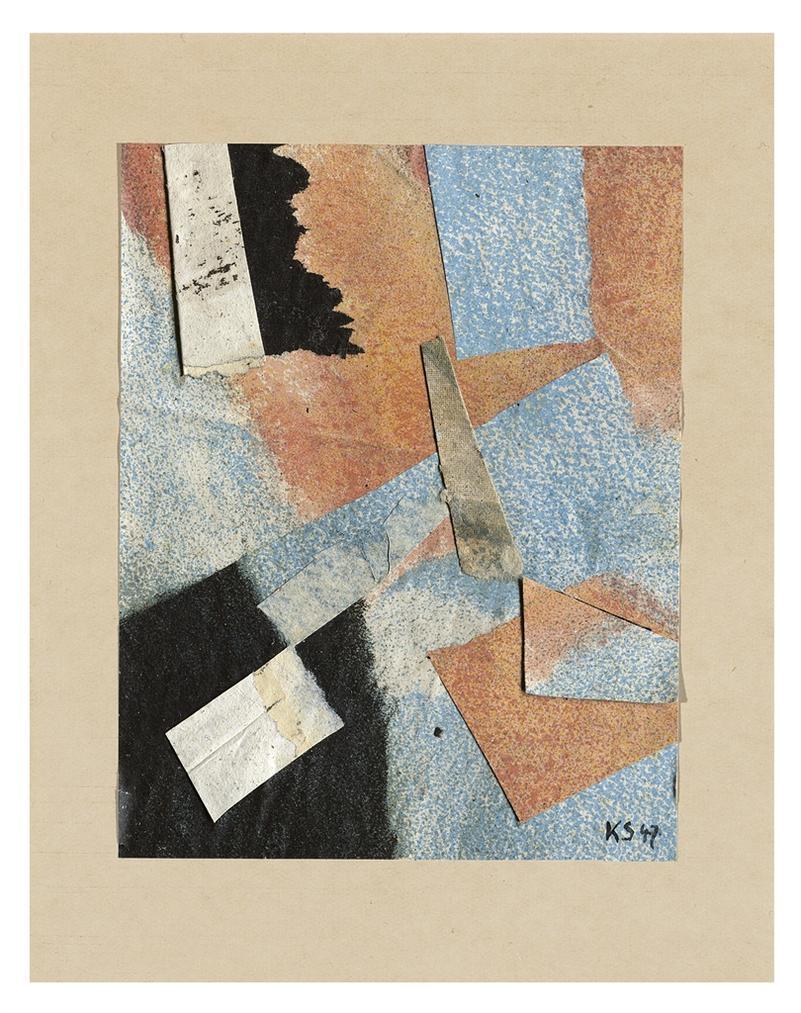 Kurt Schwitters-Ohne Titel (Mit Schwarzen Flecken)-1947