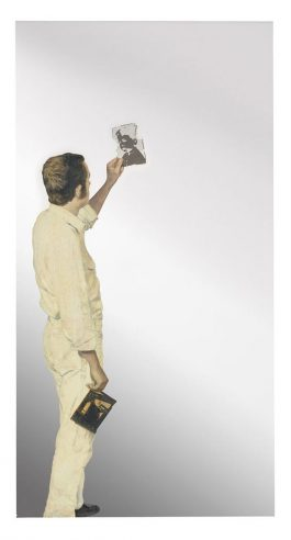Michelangelo Pistoletto-Uomo Che Guarda Un Negativo (Man Looking At A Negative)-1967