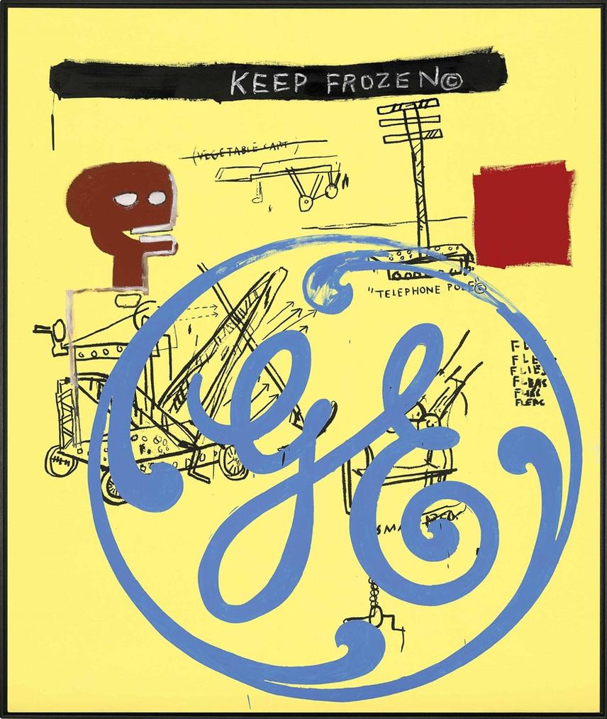 Jean-Michel Basquiat & Andy Warhol - Keep Frozen (General Electric)-1985