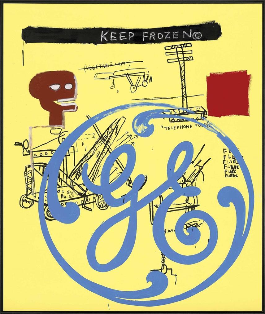 Jean-Michel Basquiat-Andy Warhol-Keep Frozen (General Electric)-1985
