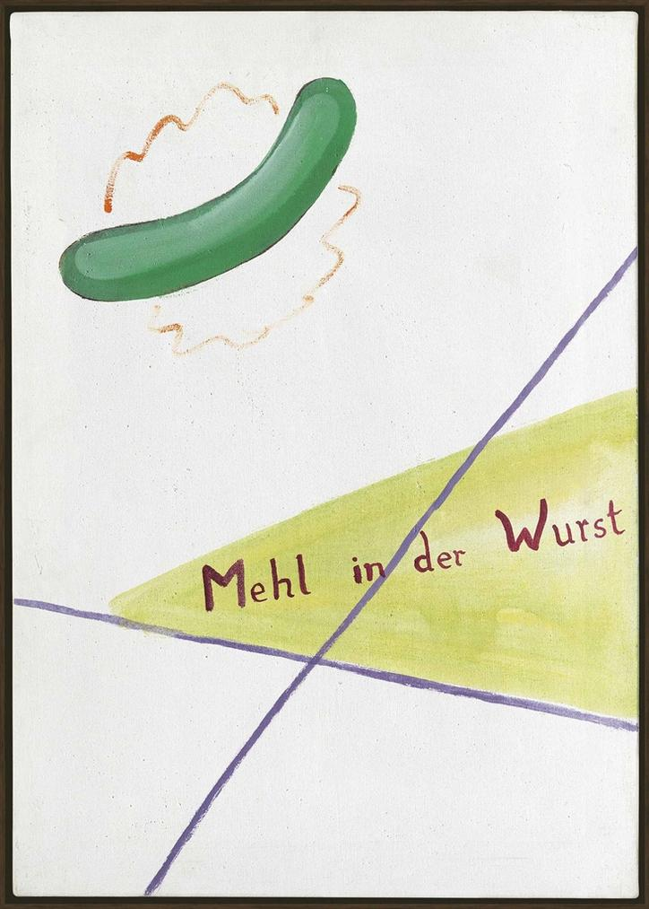 Sigmar Polke-Mehl In Der Wurst (Flour In The Sausage)-1964