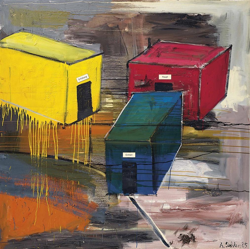 Albert Oehlen-...Loves Body (Erfullung, Haupt, Einheit)-1985