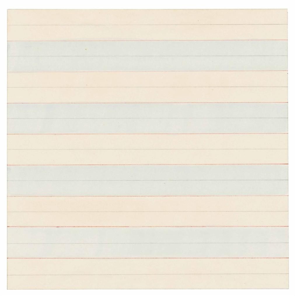Agnes Martin-Untitled-1978