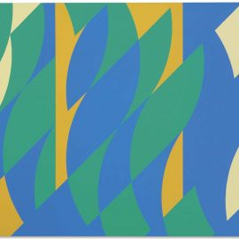 Bridget Riley-Painting With Two Verticals 3-2005