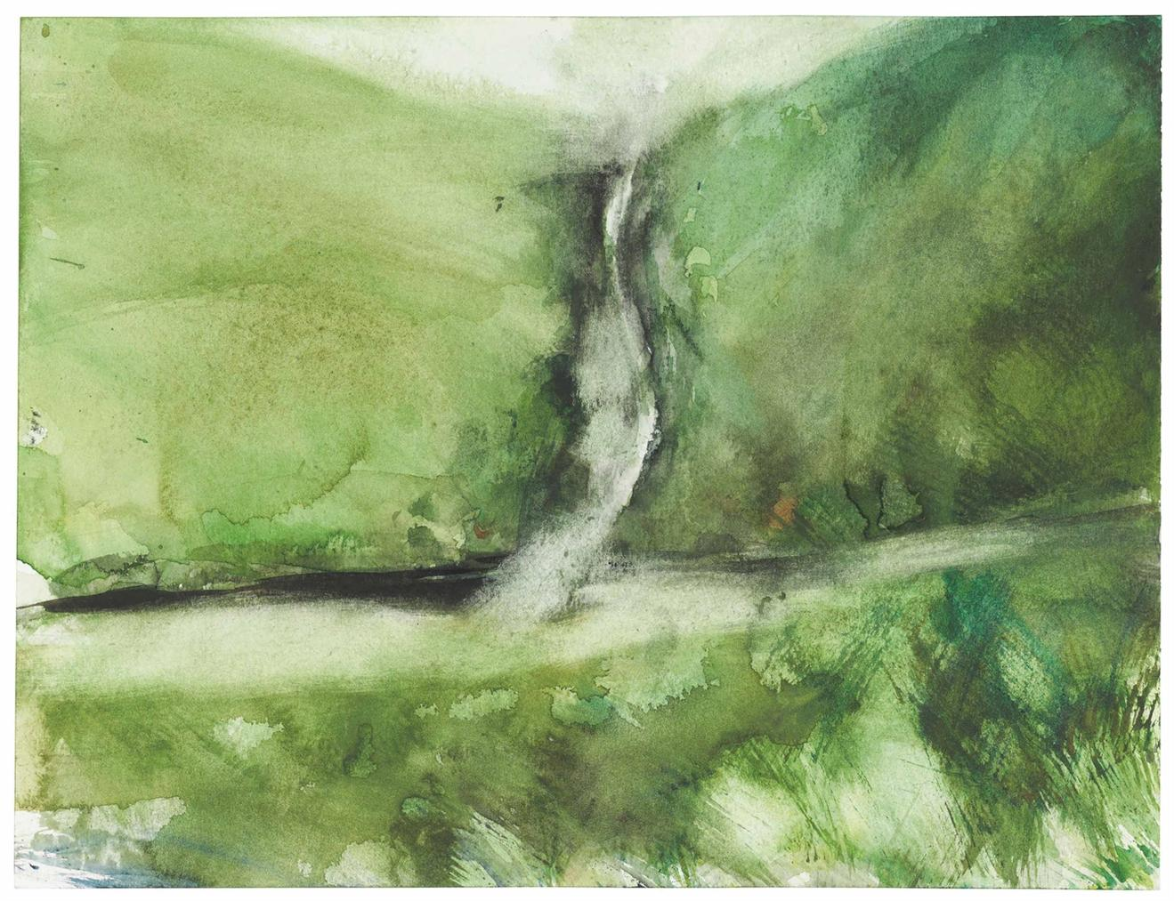 Michael Andrews-Untitled (Landscape With Waterfall, Scotland II)-1994