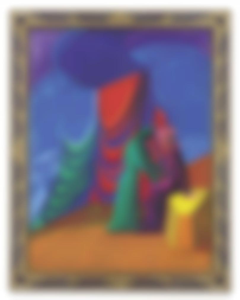 David Hockney-Isolde And Brangane-1987