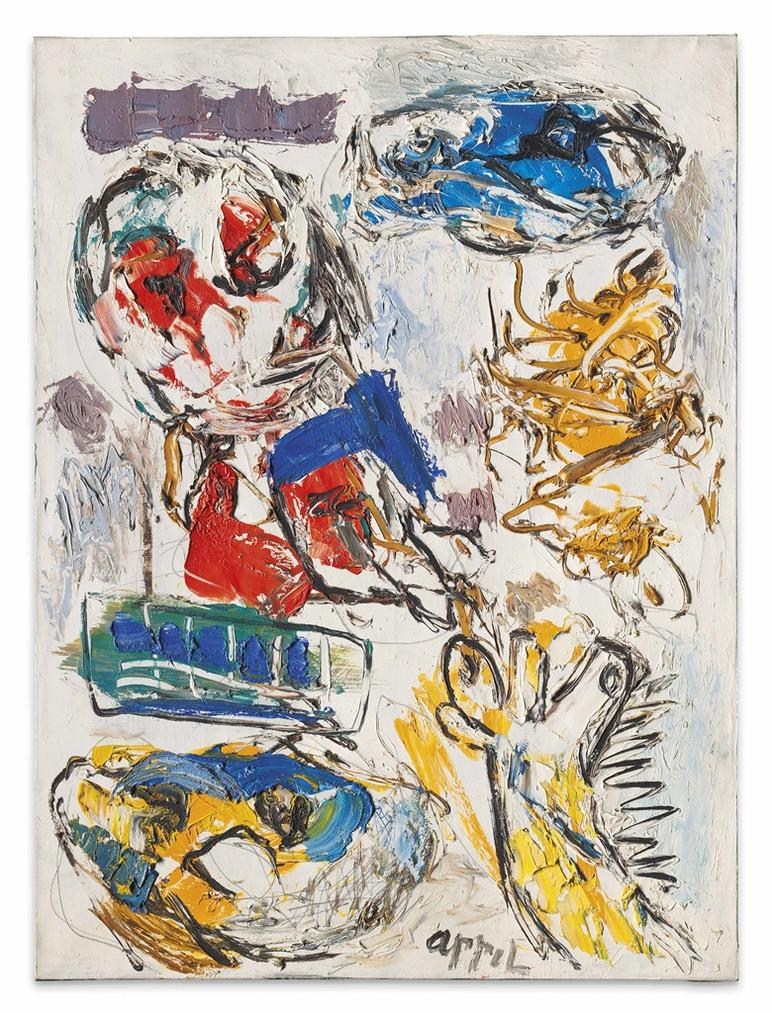 Karel Appel-Flying Ammand (Le Monde En Miettes) (Flying Ammand (The World In Crumbs))-1961