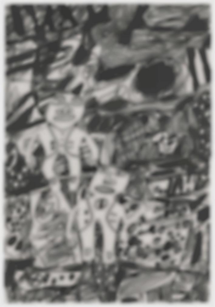 Jean Dubuffet-Paysage Avec Deux Personnages (Landscape With Two Characters)-1980