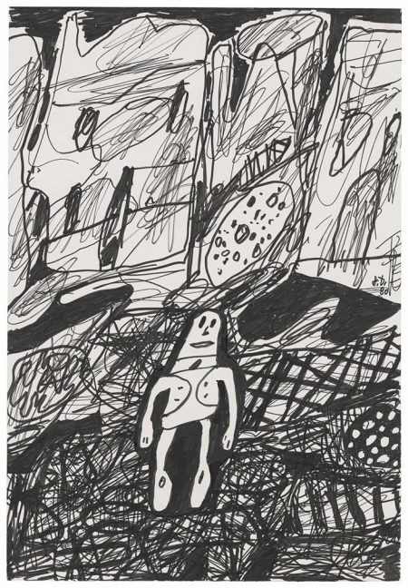 Jean Dubuffet-Paysage Avec Un Personage (Landscape With One Character)-1980
