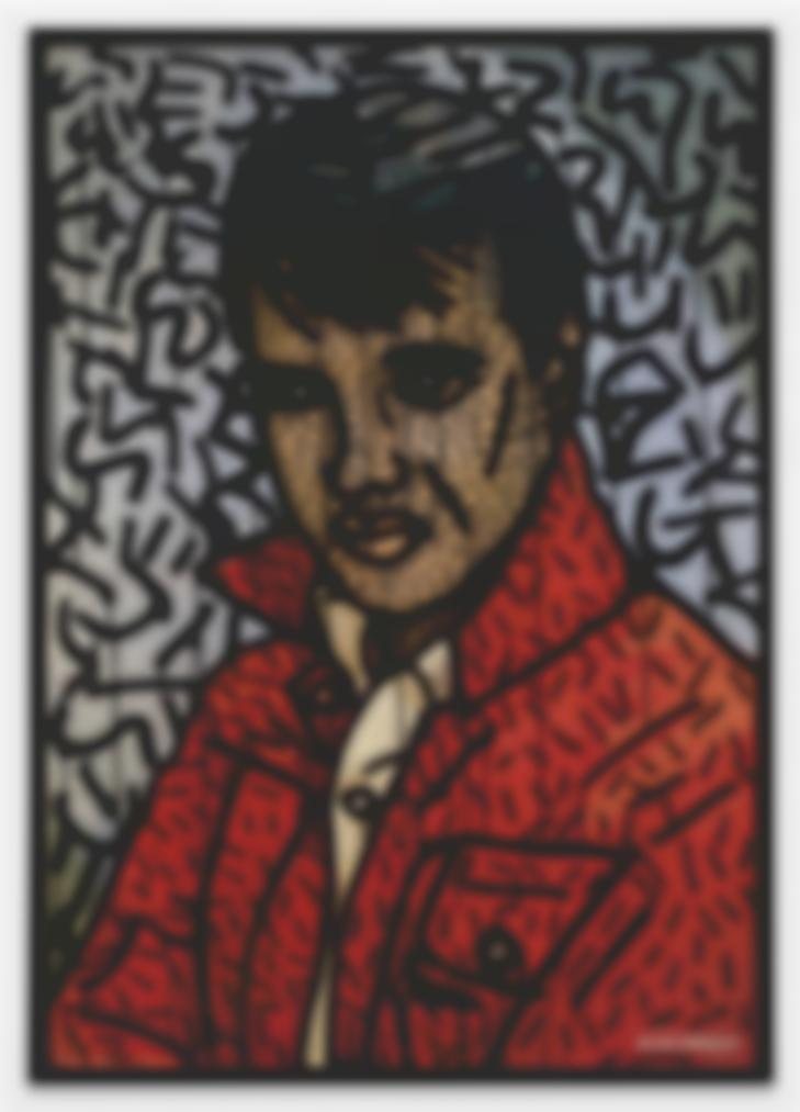 Keith Haring-Untitled (Elvis Presley)-1981