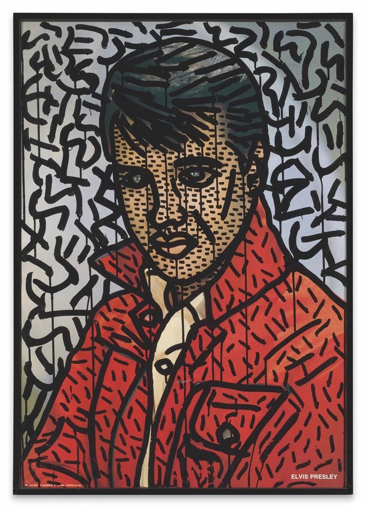 Keith Haring-Untitled (Elvis Presley)-1981