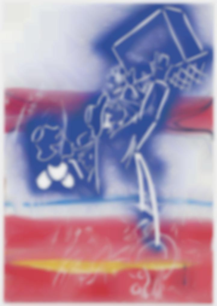 Sigmar Polke-Ohne Titel (Gepacknetz) (Untitled (Luggage Rack))-1981