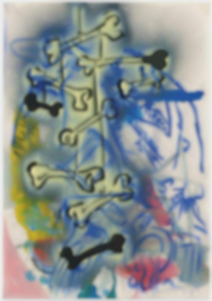 Sigmar Polke-Ohne Titel (Knochen) (Untitled (Bones))-1981