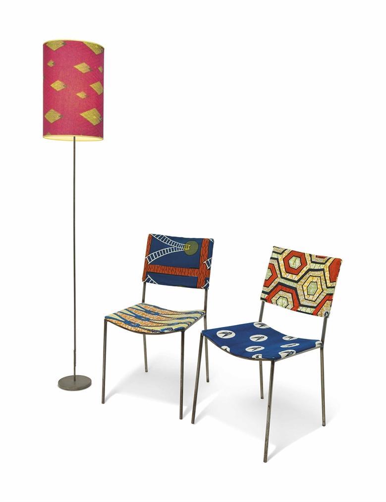 Franz West-2 Kodu Chairs + 1 Lamp-2003