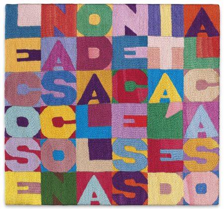 Alighiero Boetti-Le Cose Nascono Dalla Necessita E Dal Caso (Things Are Born Of Necessity And Chance)-1988