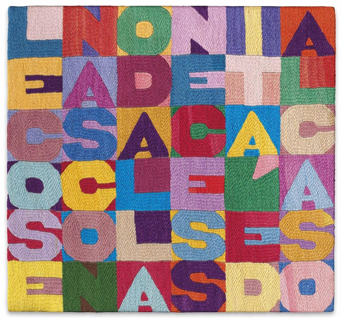 Alighiero Boetti-Le Cose Nascono Dalla Necessita E Dal Caso (Things Are Born Of Necessity And Chance)-1988