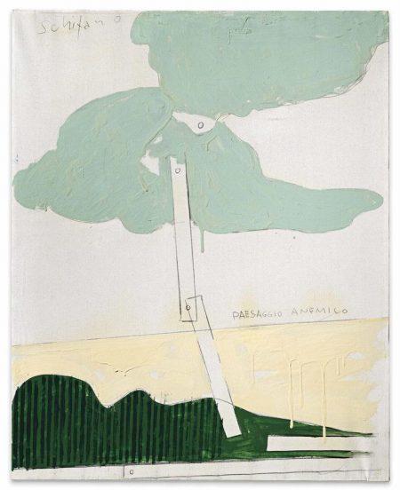Mario Schifano-Paesaggio Anemico-1965