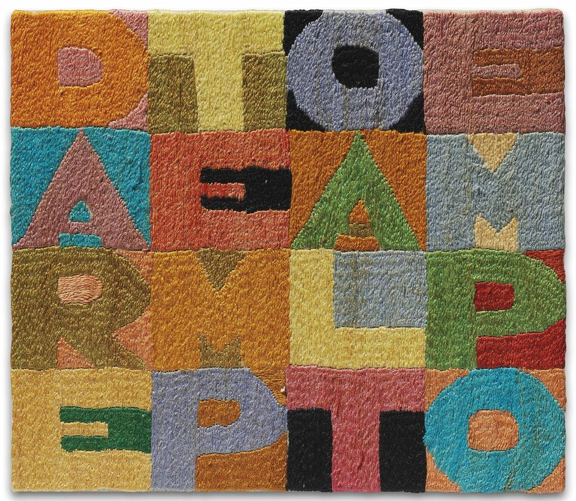 Alighiero Boetti-Dare Tempo Al Tempo (To Give Time To Time)-1987