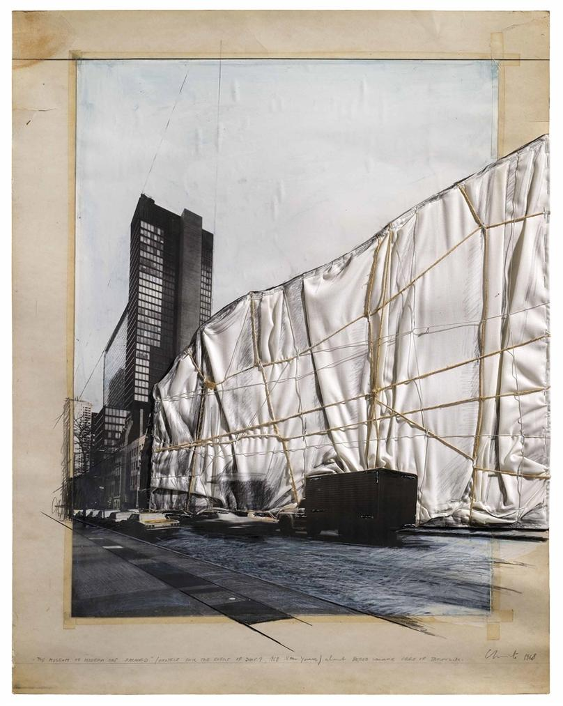 Christo and Jeanne-Claude-The Museum Of Modern Art Packed-1968