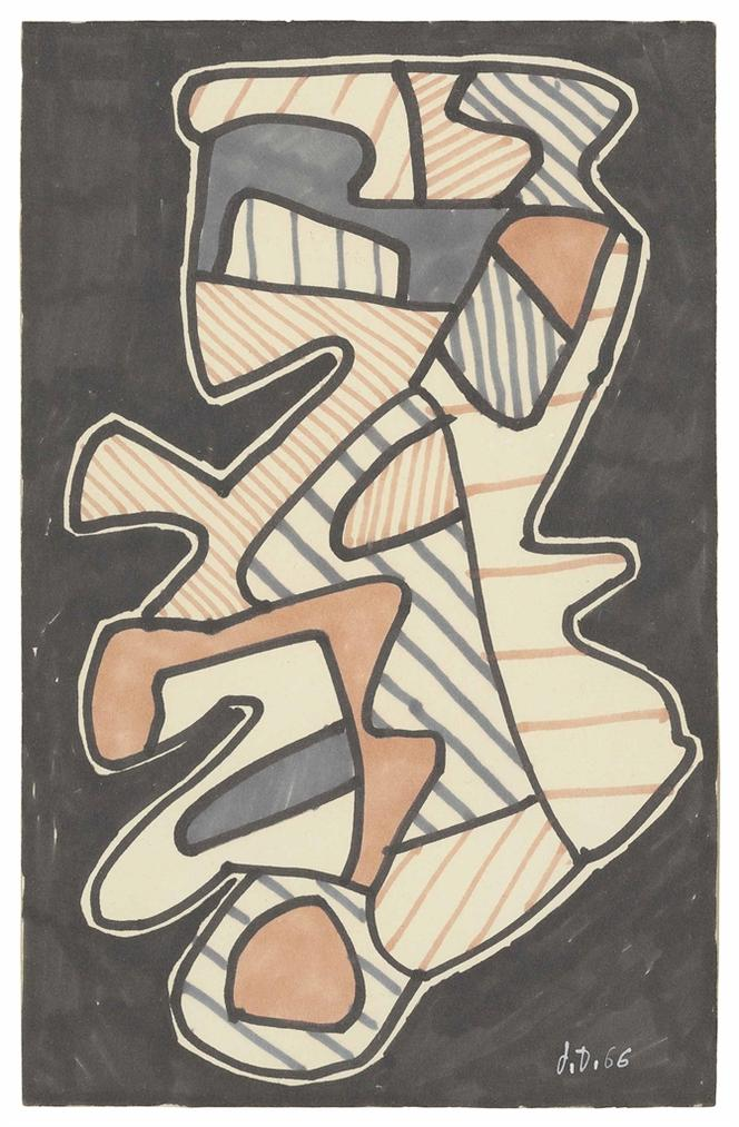 Jean Dubuffet-Le Hochet (The Rattle)-1966