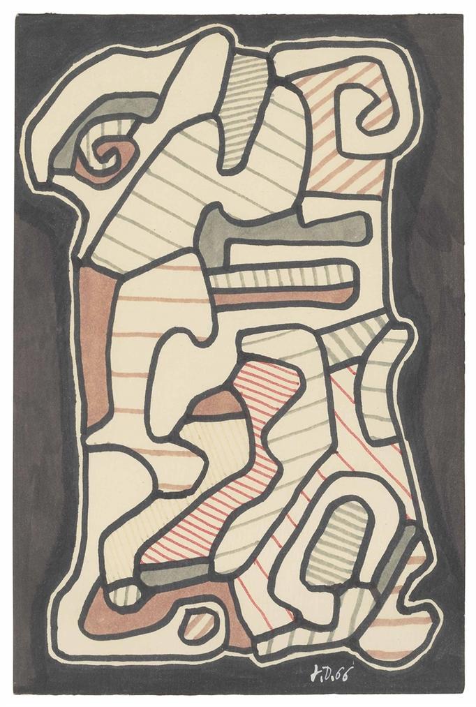 Jean Dubuffet-La Stele (The Stele)-1966