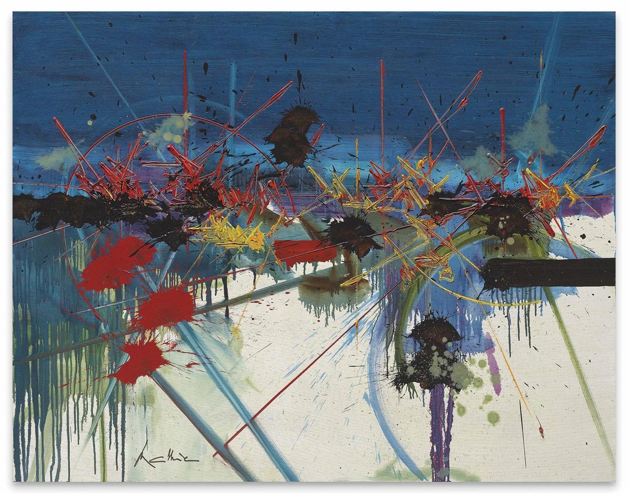 Georges Mathieu-La Clarte Premiere (The First Light)-1990