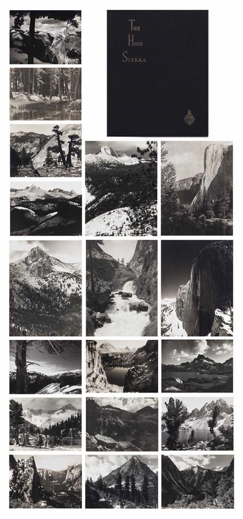 Ansel Adams-Parmelian Prints Of The High Sierras-1927