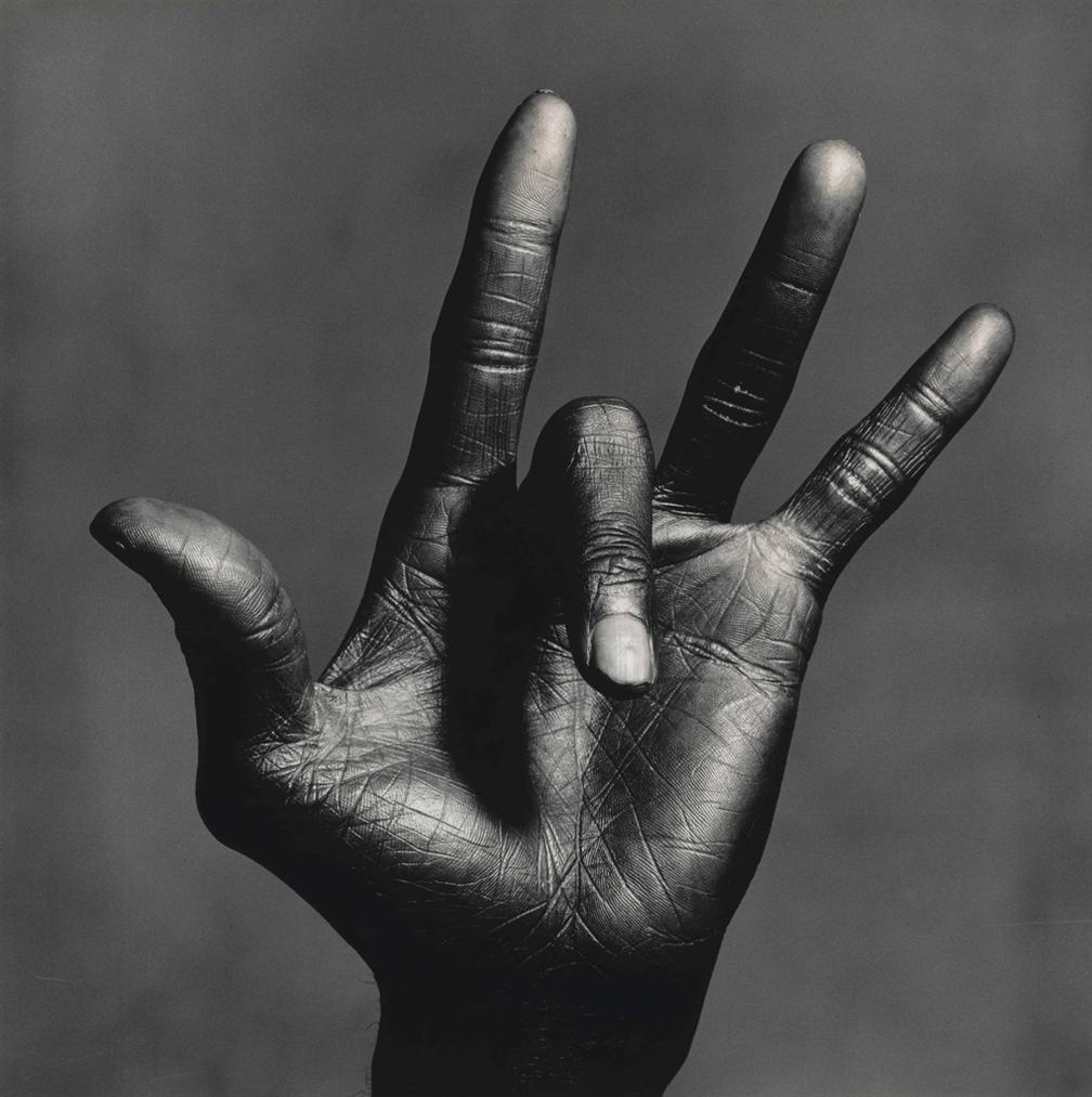 Irving Penn-The Hand Of Miles Davis, New York-1986