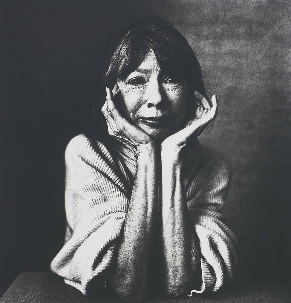 Irving Penn-Joan Didion, New York, April 18-1996