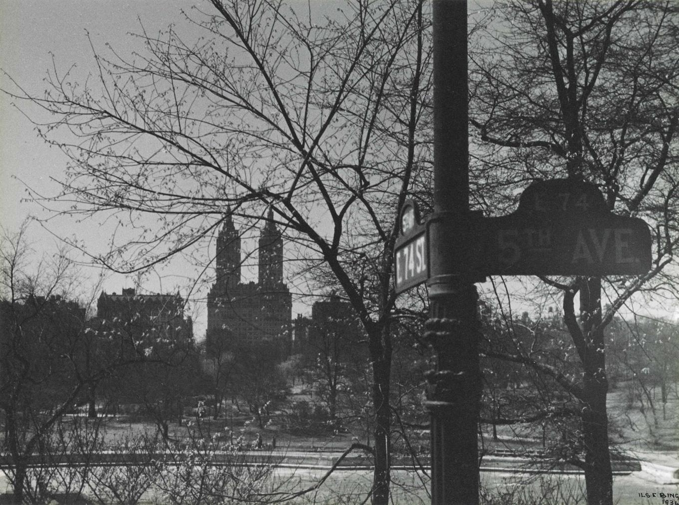 Ilse Bing-Central Park From Fifth Avenue-1936