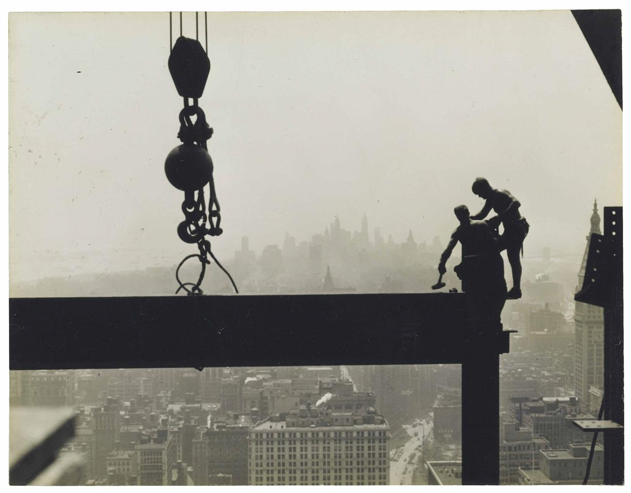 Lewis Wickes Hine-Untitled (Empire State Building Construction)-1931