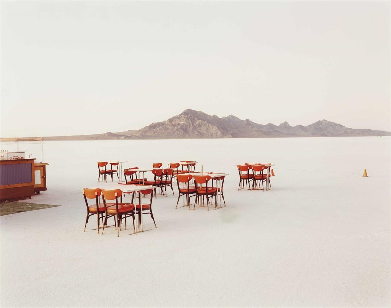 Richard Misrach-Outdoor Dining, Bonneville Salt Flats-1992