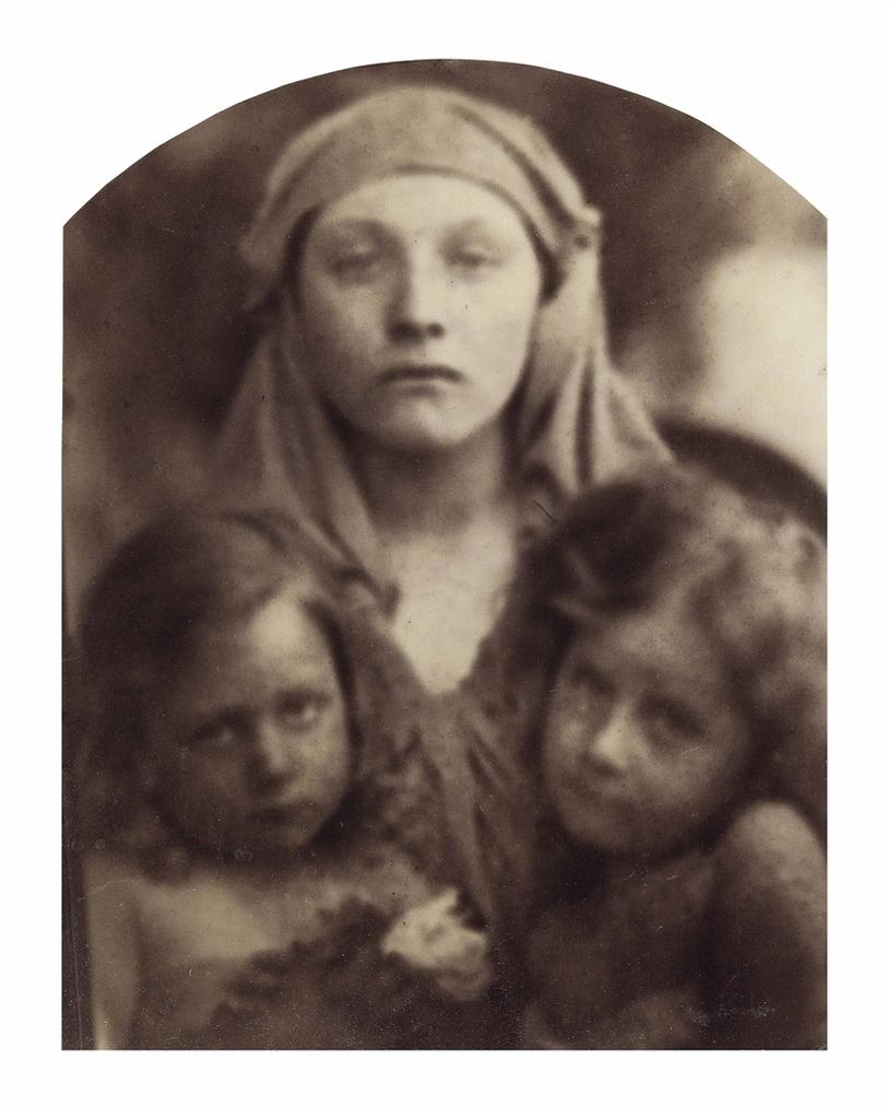 Julia Margaret Cameron-Madonna And Two Children-1864