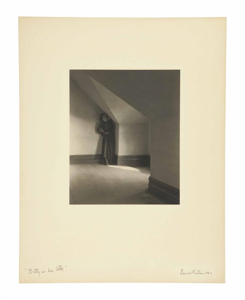 Edward Weston-Betty In Her Attic-1920