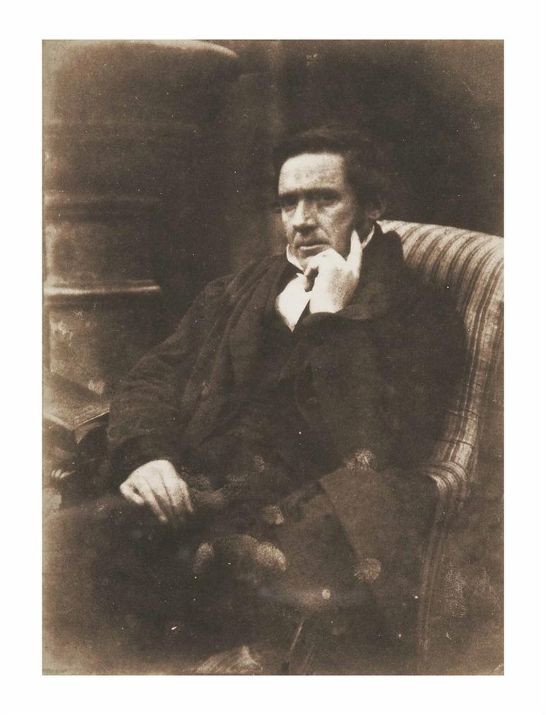 David Octavius Hill-Seated Man In Striped Armchair-1847