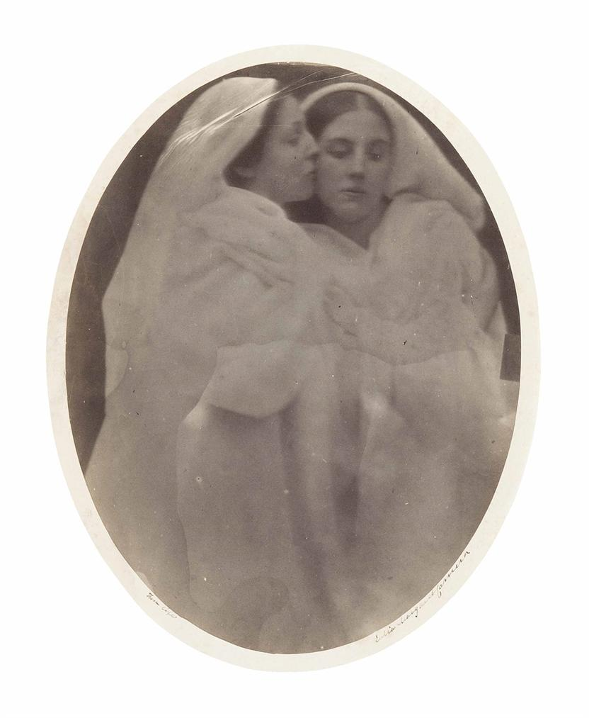 Julia Margaret Cameron-Allegorical Study (Mary Hillier And Kate Dore)-1864