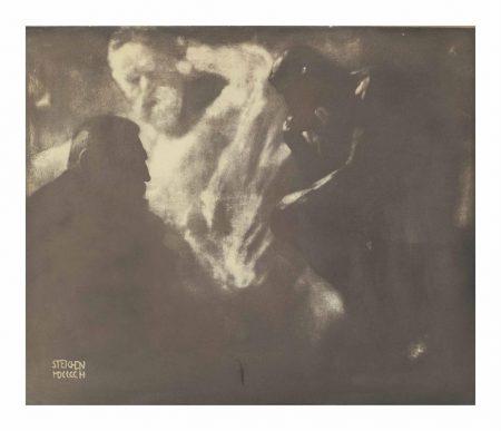 Edward Steichen-Rodin - Le Penseur-1902