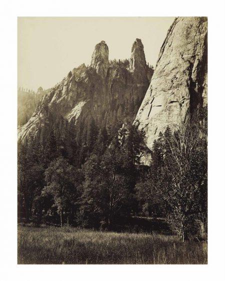 Carleton E. Watkins-Cathedral Spires, Yosemite-1866