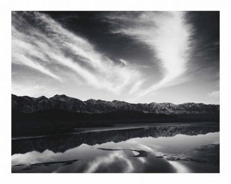 Ansel Adams-Evening Clouds, Sierra Nevada From Owens Valley, California-1962