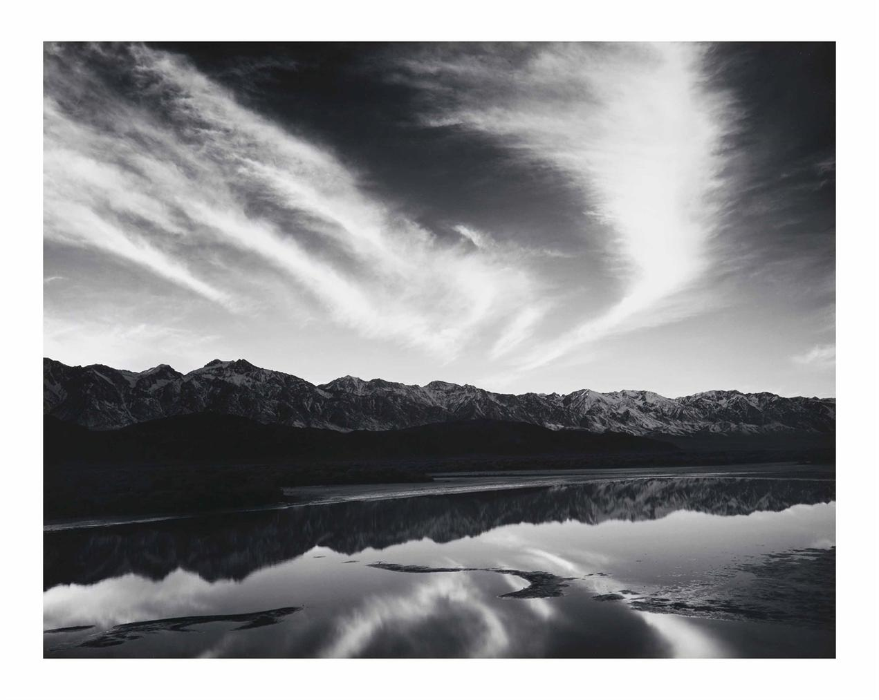 Ansel Adams-Evening Clouds, Sierra Nevada From Owens Valley, California-1962