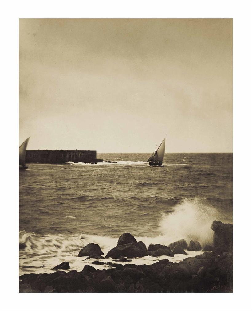 Gustave Le Gray-La Vague Brisee-Cette-Mer Mediterranee-1857
