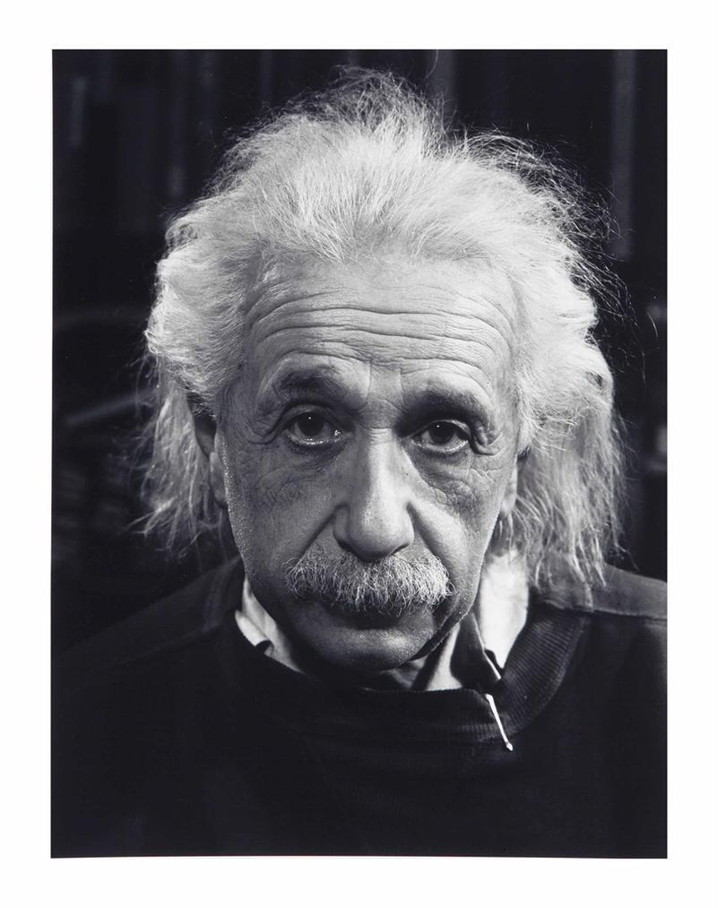 Philippe Halsman-Professor Albert Einstein In His Study At Princeton-1947
